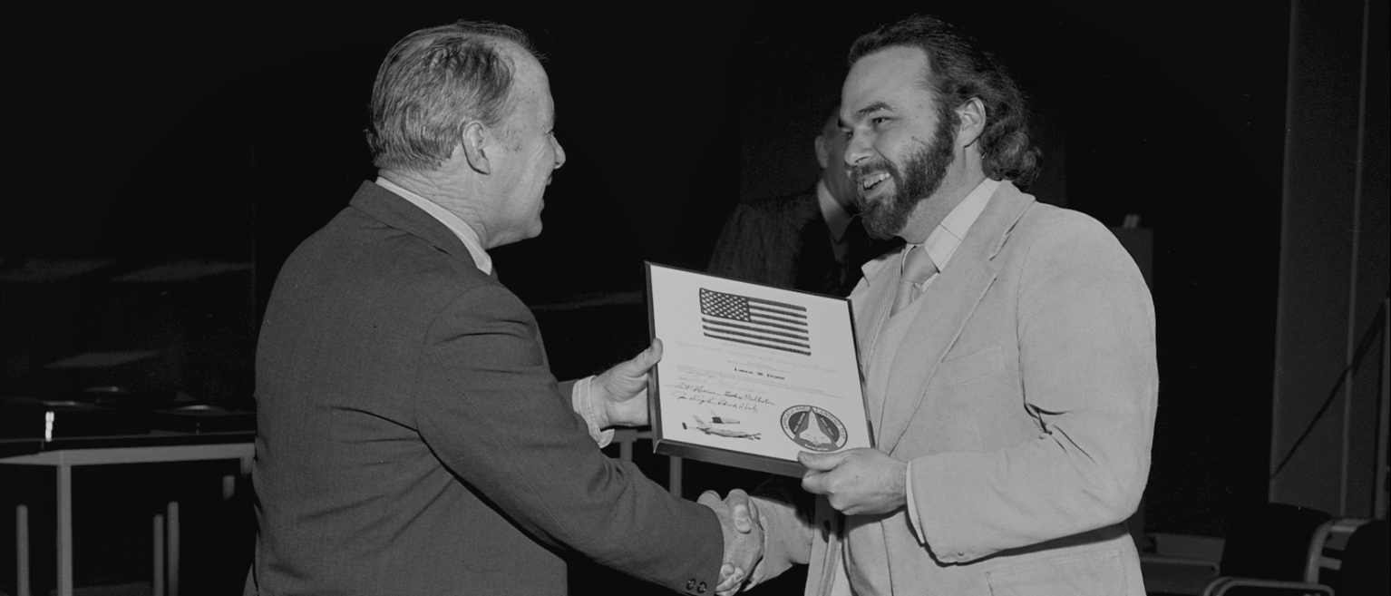 Lance Drane Accepting a NASA Award