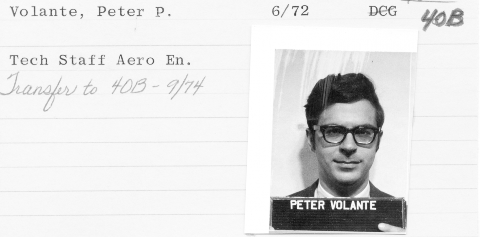 Peter Volante Employee Card