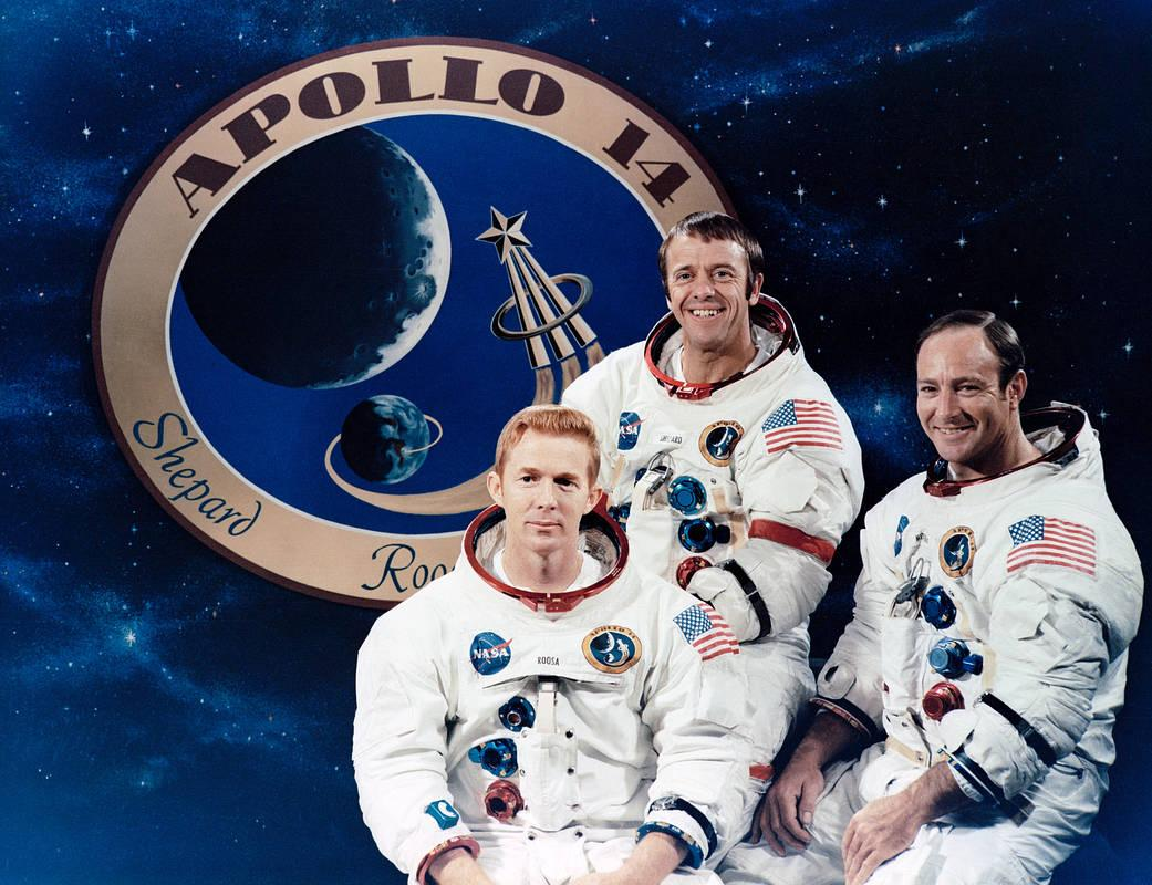 Apollo 14 Crew Shepard, Roosa, and Mitchell