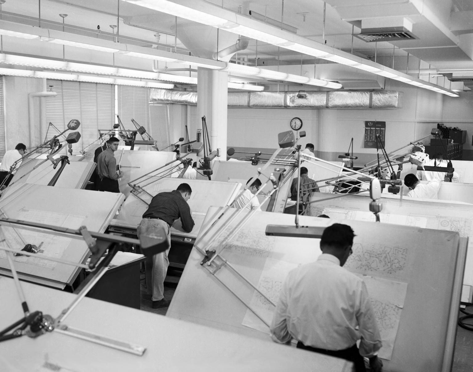 MIT Lab Engineers in a Drafting Room