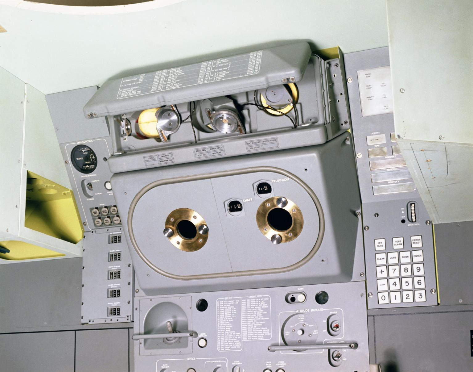 Mock-Up of the Apollo Primary Guidance, Navigation, and Control System