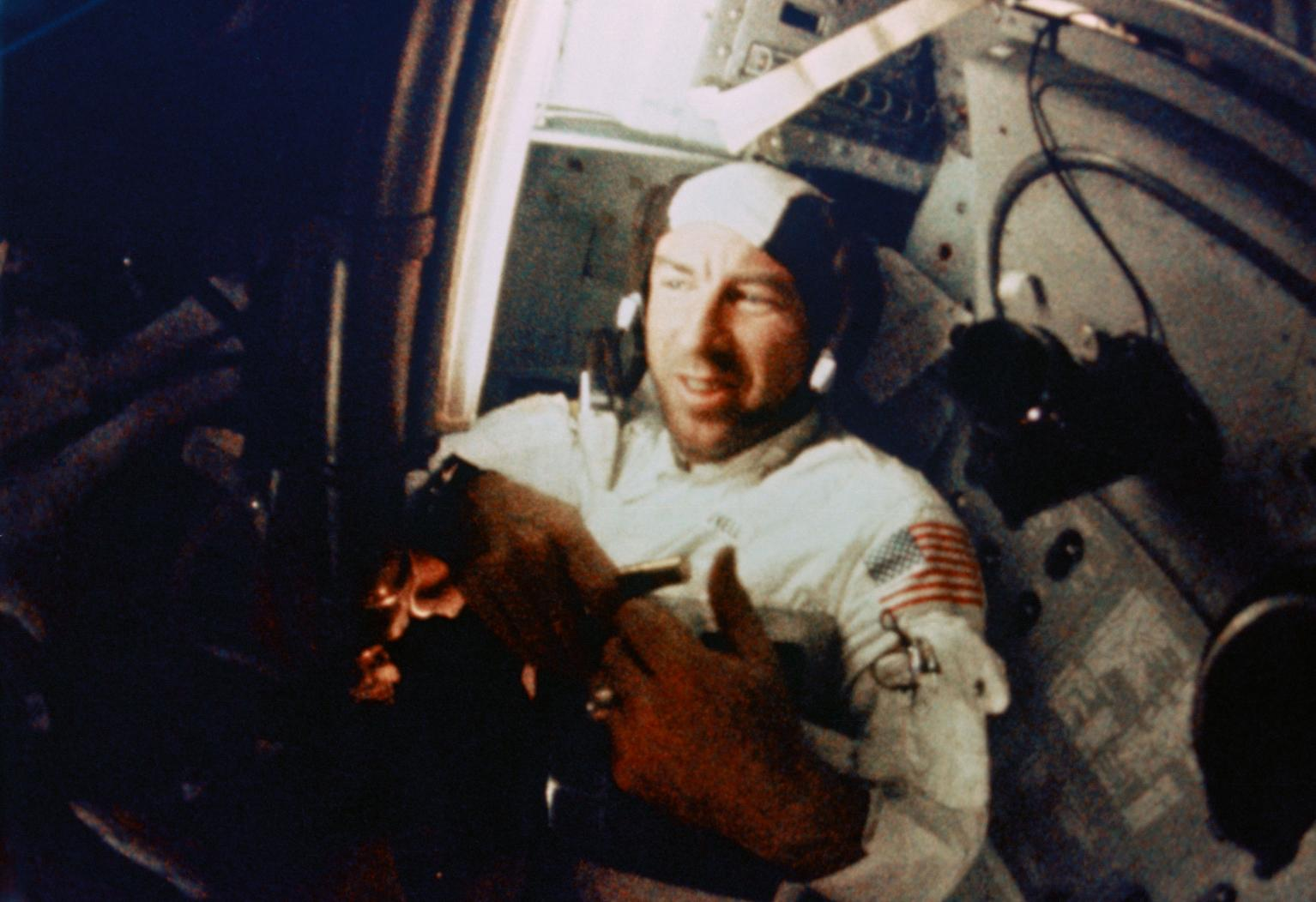 Jim Lovell in the Command Module