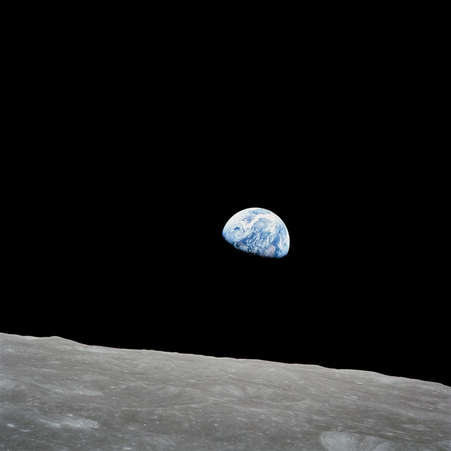 Earthrise photo from Apollo 8 Mission