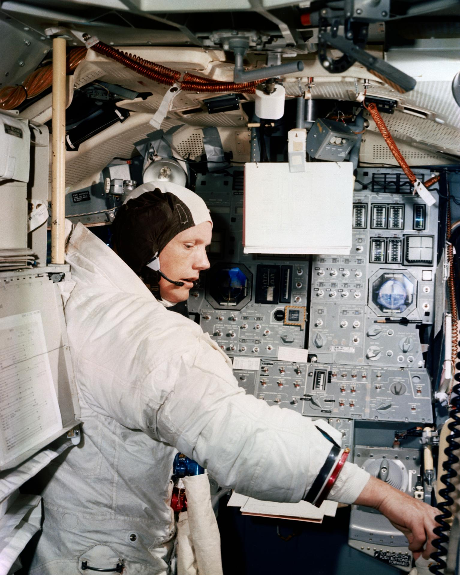 Astronaut Neil Armstrong Simulation Training