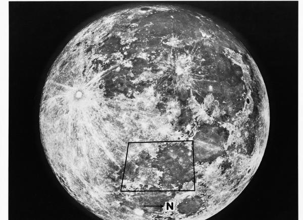 Apollo Proposed Moon Landing Site