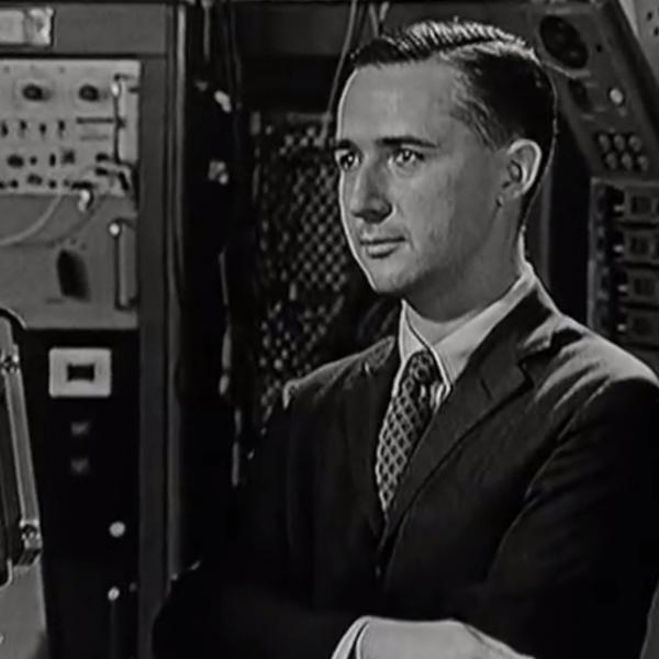 Ramon Alonso with Apollo Guidance Computer in MIT Film