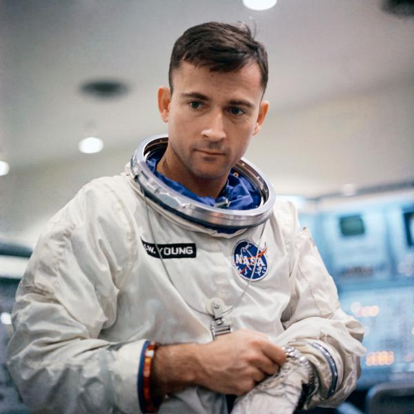 Suited-Up- Astronaut John W. Young