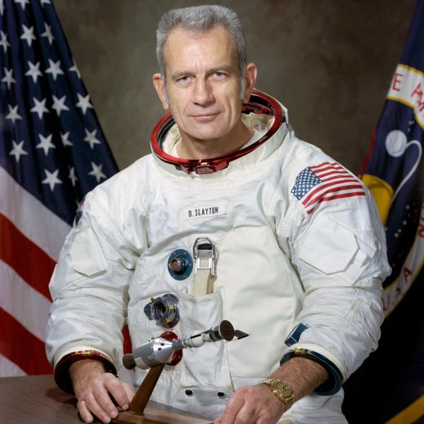 Portrait of the American ASTP Astronaut Donald ''Deke'' K. Slayton