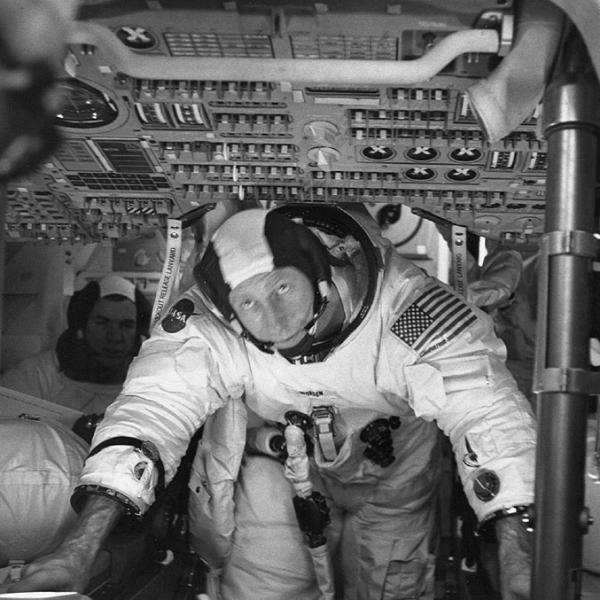 Apollo 15 Astronaut Al Worden in Command Module