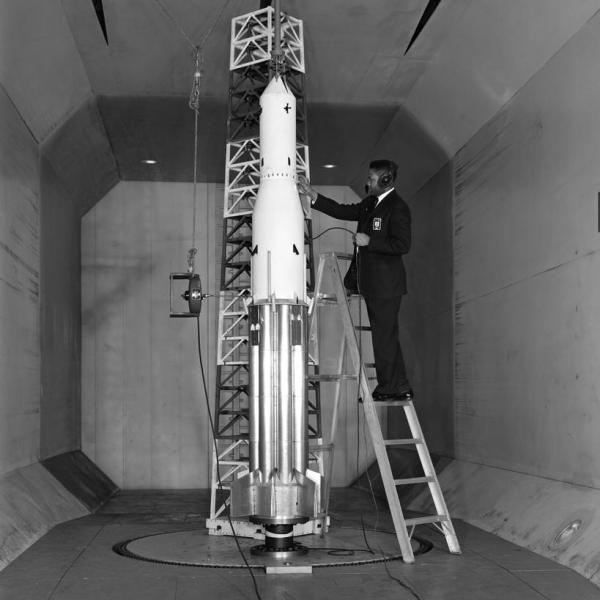 Thomas Byrdsong Saturn 1B Wind Tunnel Test