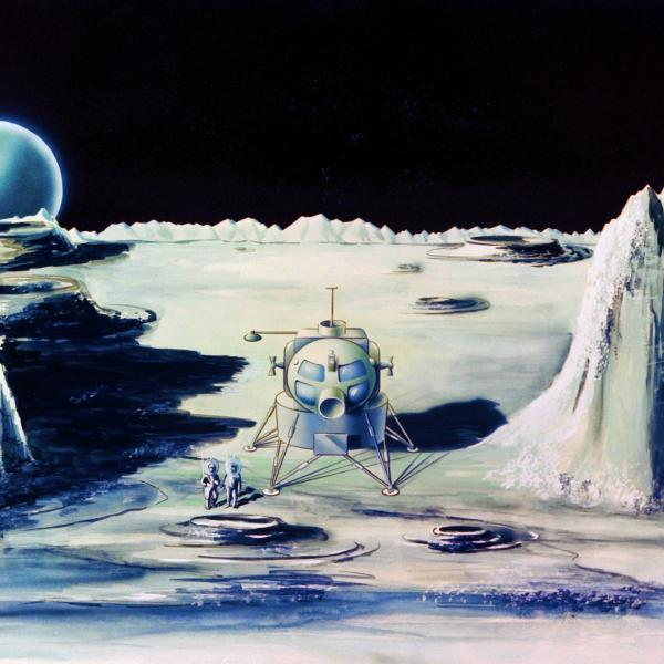 Painting Of Lunar Landscape
