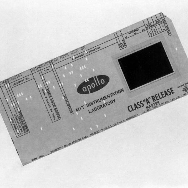Apollo Class A Data Punch Card