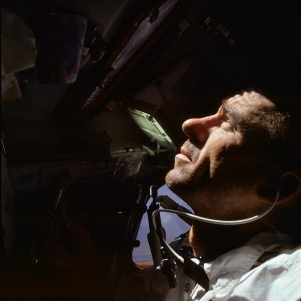Apollo 7 Astronaut Walter Cunningham During Mission