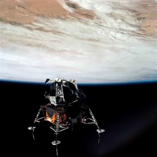 Apollo 9 Lunar Module in Earth Orbit
