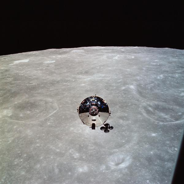 Apollo 10 Command and Service Module in Lunar Orbit