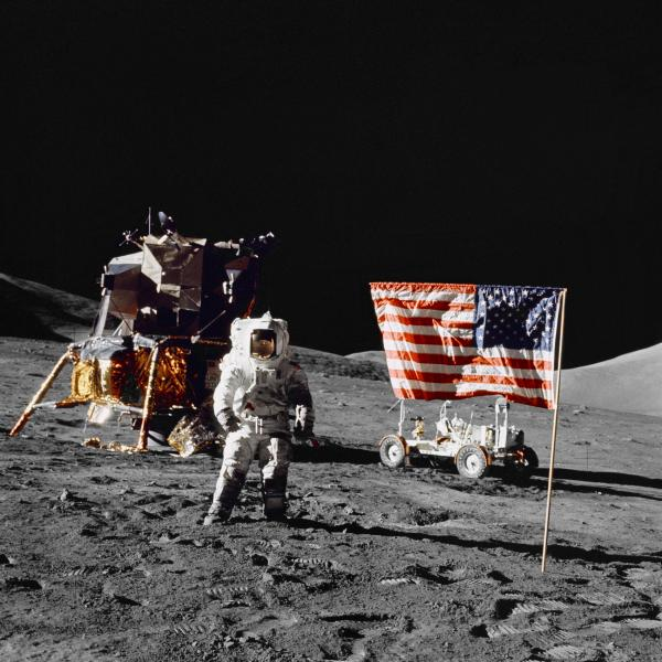 Astronaut Harrison Schmitt on Lunar Surface, Apollo 17