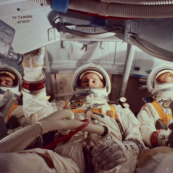 Apollo 1 Crew Inside Capsule Prior to Test