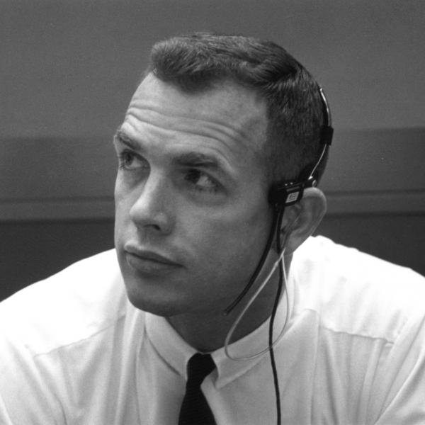 Dave Scott in Mission Control During Apollo 11