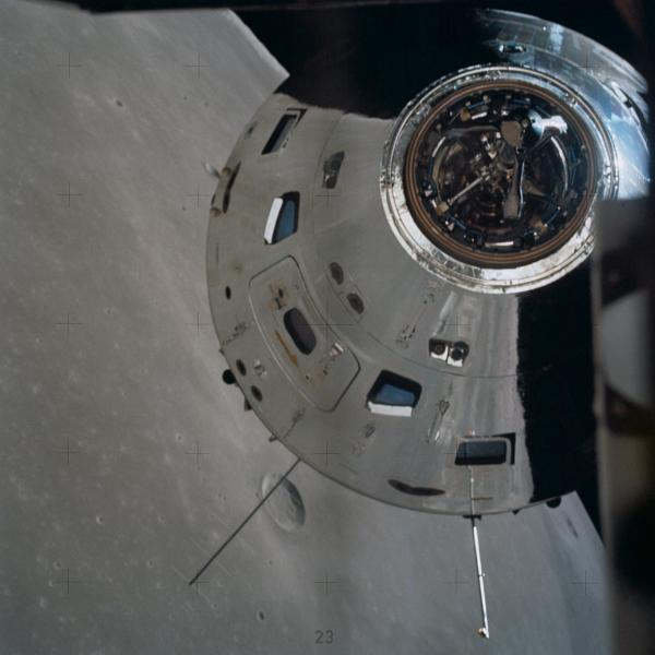 Command and Service Module in Lunar Orbit